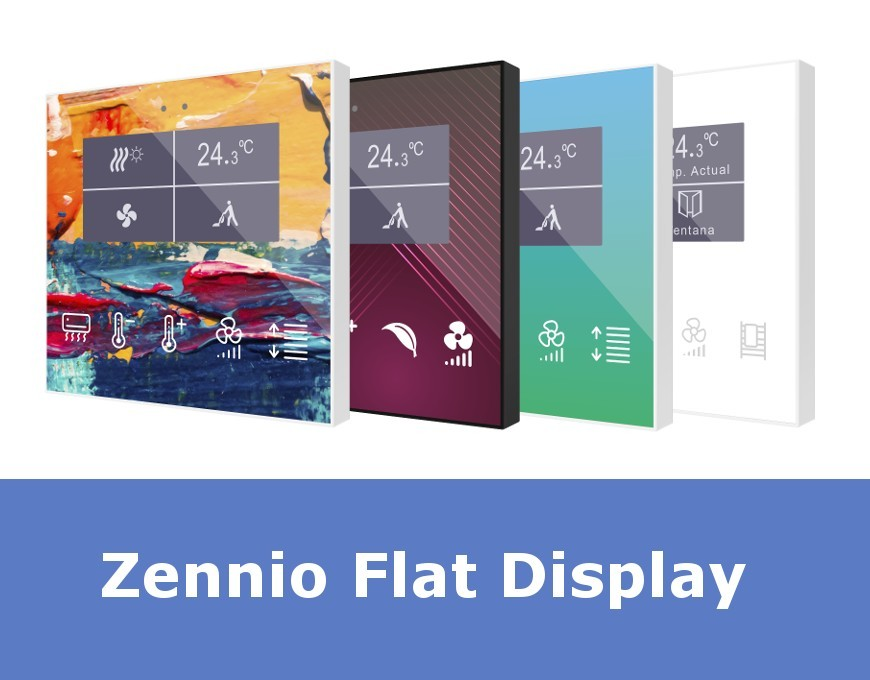 KNX room controller Zennio ZVI-FD Flat Display available