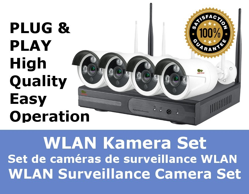 WLAN Video Surveillance Camera Set