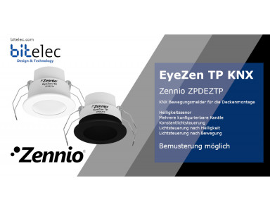 Zennio EyeZen TP - KNX motion detector for ceiling mounting