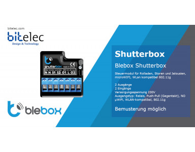 Blebox Shutterbox - control module for shutters and blinds